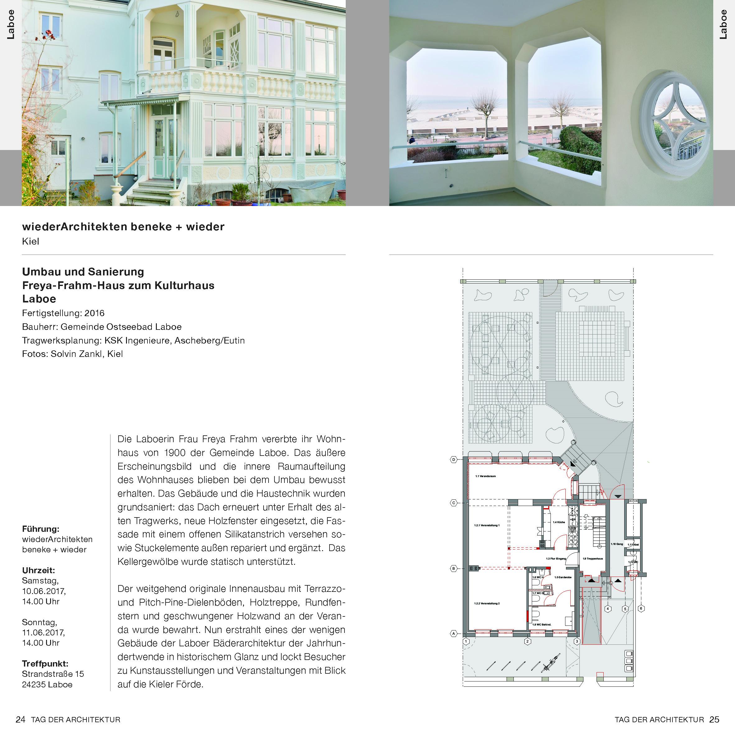 LABOE | Umbau Und Sanierung Feya Frahm Haus Zum Kulturhaus